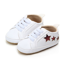 Baby Shoes Sneakers Newborn Infant Casual Soft Sole Anti-Slip Star-Print Breathable