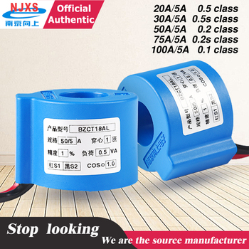 цена на AC Current Transformer 3 phases BZCT18AL-20a/5a 30a/5a 50a/5a 60/5 75A/5A 100a/5a current sensor transducer compact single phase