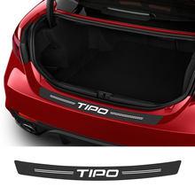 Para fiat tipo estilo do carro amortecedor traseiro adesivos auto tronco guarda peitoril pedais capa scuff fibra de carbono de proteção acessórios do carro