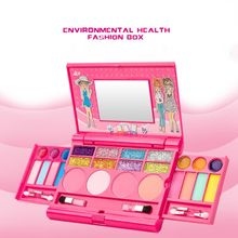 лучшая цена Safe Non Toxic Children Girl Princess Makeup Set Eyeshadow Lipstick Palette Box Kit Pretend Play Toy E65D