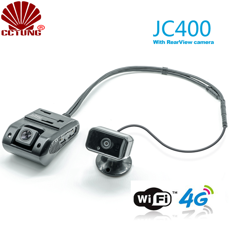 JC400 4G Smart AiVision Dashcam With Front & Rearview Dual 1080P Live Video Monitoring GPS Tracking & SOS Alarm By Mobile APP