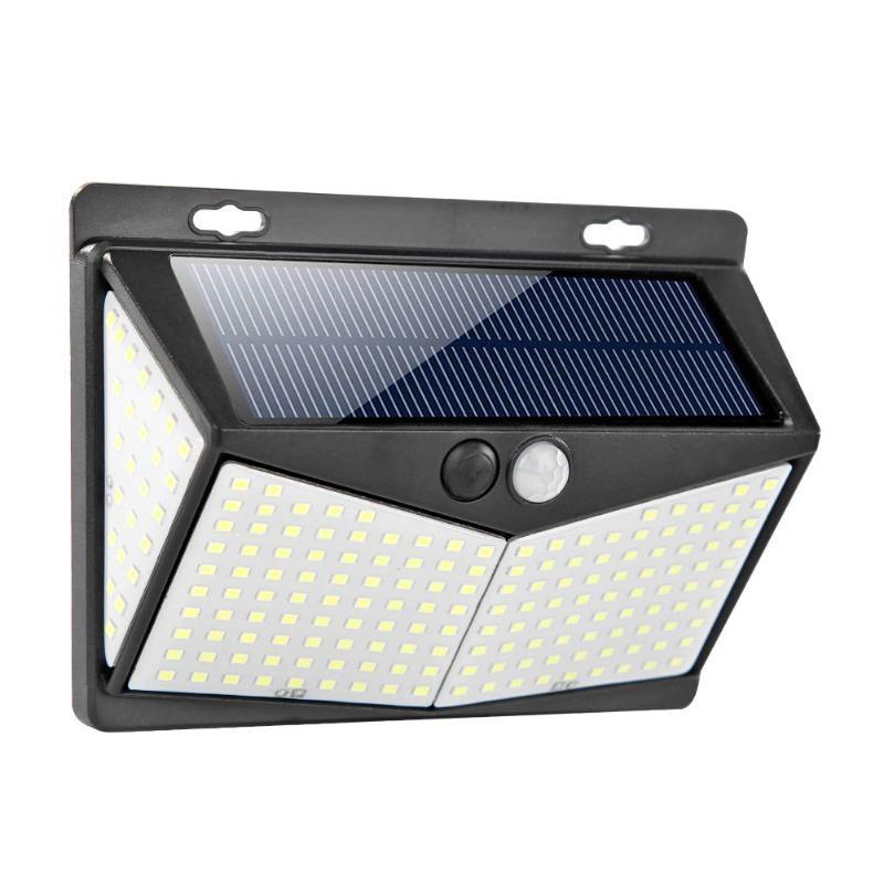 208LED LED Solar Light Outdoor Solar Lamp PIR Motion Sensor Wall Light Waterproof Solar Powered Sunlight For Garden Decoration