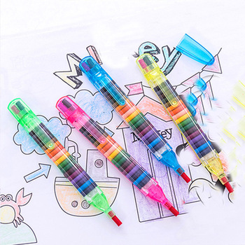 20 colors/pcs Cute Kawaii Crayons Oil Pastel Creative Colored Graffiti Pen For Kids Painting Drawing Supplies Student Stationery - discount item  25% OFF Pens, Pencils & Writing Supplies