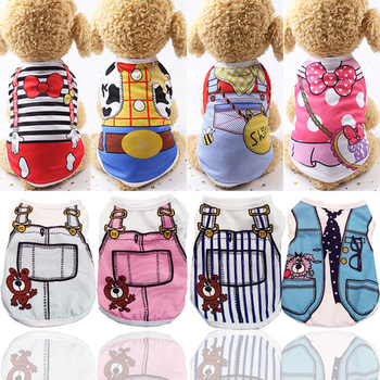 Clothing For Dogs Summer Lovely Cartoon Dog Vest Pet Clothes For French Bulldog Cool Breathable Dog Clothes For Small Dogs Girl