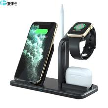 3 in 1 Charging Stand For iWatch 5/4/3/2 10W Fast Qi Wireless Charger Dock Station for iPhone 11 XS XR 8 AirPods Pro Apple Watch