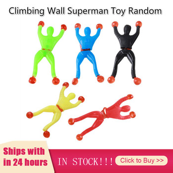 Climbing Wall Superman Toy Children Creative New Hot Toys For Kids Toddler Gifts More Cheap Juguetes Toys Brinquedos Halloween image
