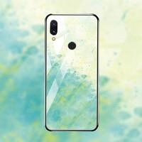 silicone case Tempered Glass Case For xiaomi redmi 7 6A 5 plus Cases Space Silicone Covers for xiaomi redmi note 5 6 7 pro back cover (4)