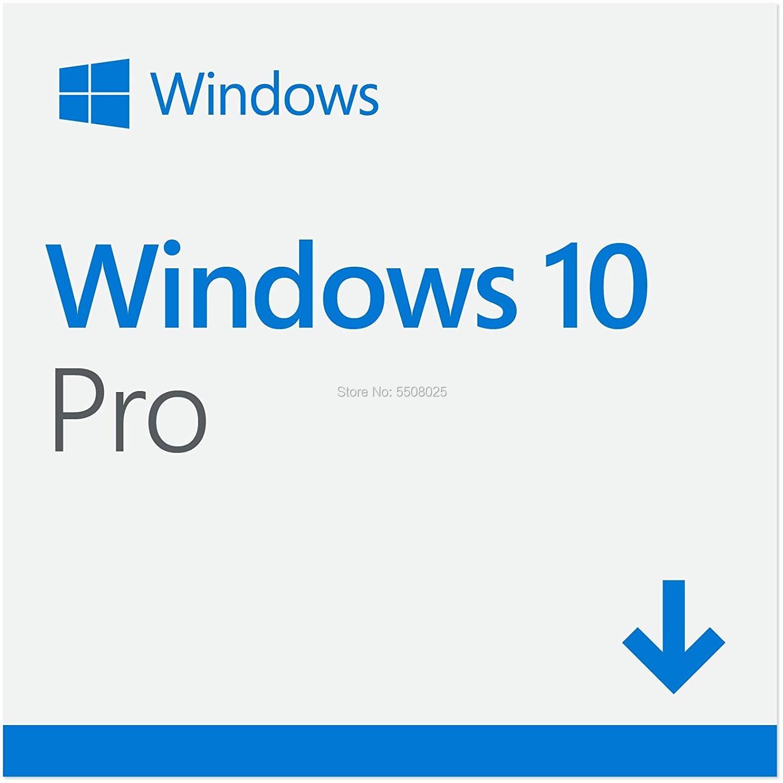 Microsoft Windows 10 Pro 32/64 Bit Product Key Card Universal Version Computer Software Win 10 Professional Office 2019 Pro Plus