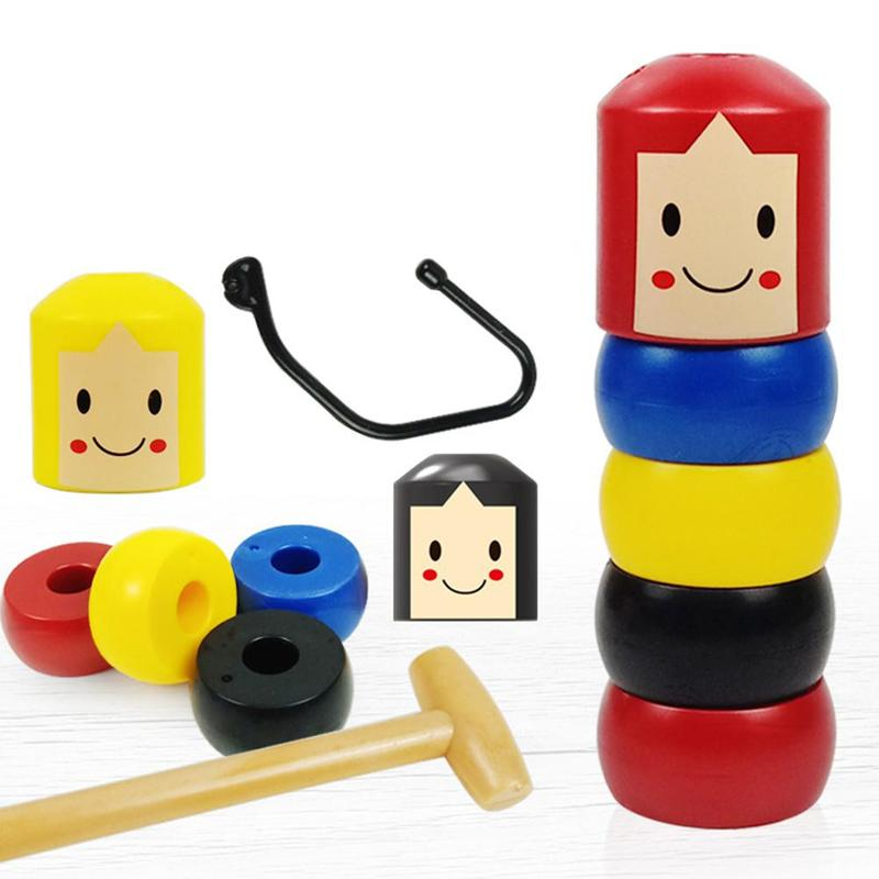 Unbreakable Wooden Man Magic Toys Magic Game Toys Gifts For Children Fun Toy Accessory
