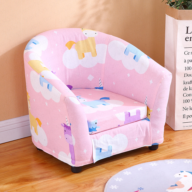Cheapest Children's Sofa Cartoon Girl Princess Single Kindergarten Seat Cartoon Washable Cloth Cute Baby Small Sofa