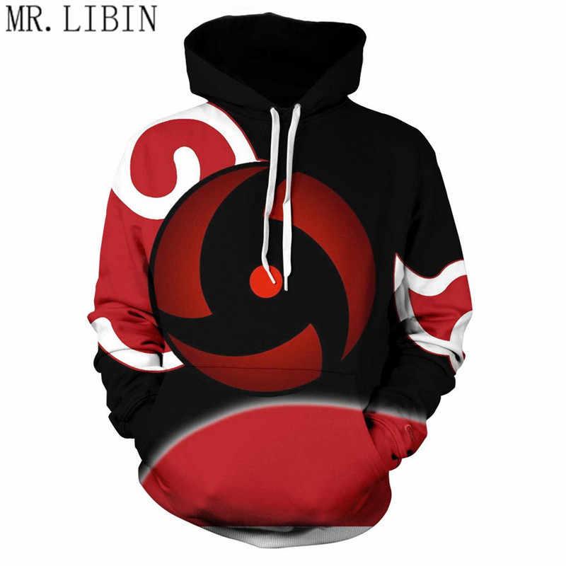 Hot 3D Cetak Anime Naruto Hoodie Pria Boruto Uchiha Itachi Atasan Hoodie Sweatshirt Fashion Keren Merah Mantel Pakaian Atas 4XL baru