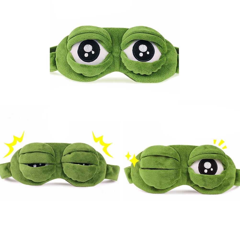 3d-маска для сна в виде лягушки, плюшевая накладка на глаза, дорожная мультяшная накладка на глаза для путешествий, расслабляющий подарок для...