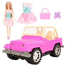 Hot Newest fashion high quality 5 items /set=1 doll +1 car toy +1 dress shoes bag accessories for barbie dolls best gift DIY newest fashion beauty shoes for monster high original dolls 1 6 kids toys girls gift doll accessories