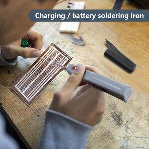 Image 5 - Handskit 4.5v 8w bateria alimentado ferro de solda com carga usb ferro de solda com fio de solda de carregamento sem fio