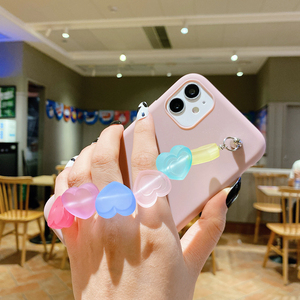 Image 5 - Funda de silicona con correa de TPU para iphone, funda de silicona con arcoíris, Love, para iphone 12 11 Pro XS Max XR X 8 7 6 6S Plus SE 2020
