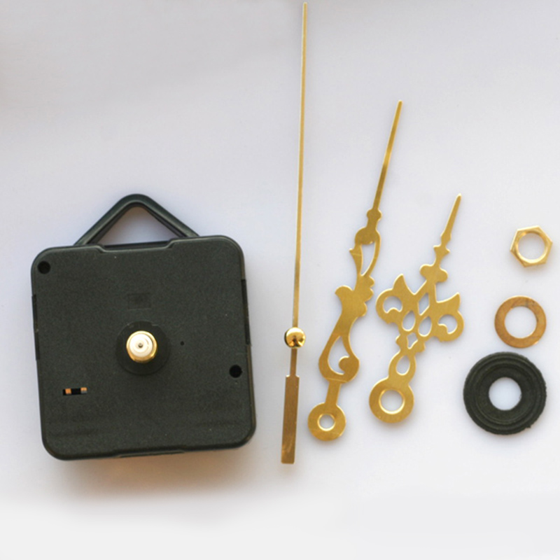 1 Set Simple Repair DIY Gold Hands Quartz Wall Clock Movement Mechanism Replacement Parts Kit Black Basement