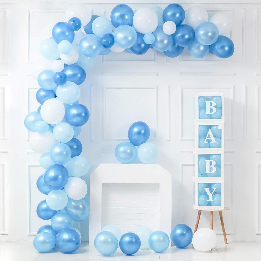 Blue Pink Baby Shower Garland Its a Girl Boy Babyshower Balloons Set Decorations Party Supplies Gender