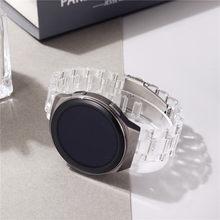 Pulseira de relógio transparente plástico 20mm 22mm para samsung galaxy watch 3 41/45mm active2 40/44mm pulseira para huawei assista gt2/pro