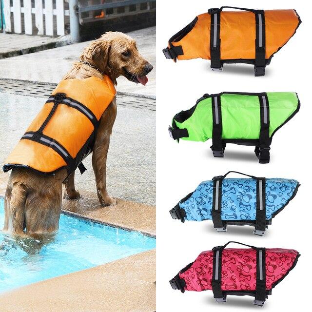 Adjustable Dog Life Jacket Vest - Rescue Swim Wear 1