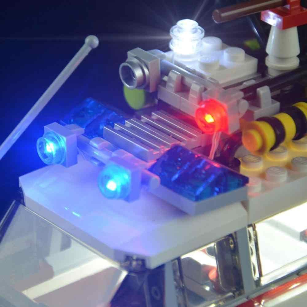 HA CONDOTTO LA Luce Up Kit Kit Per lego Lego 21108 Ghostbusters Per LEGO auto 21108 non la mattoni set Ecto-1 includono s8O8