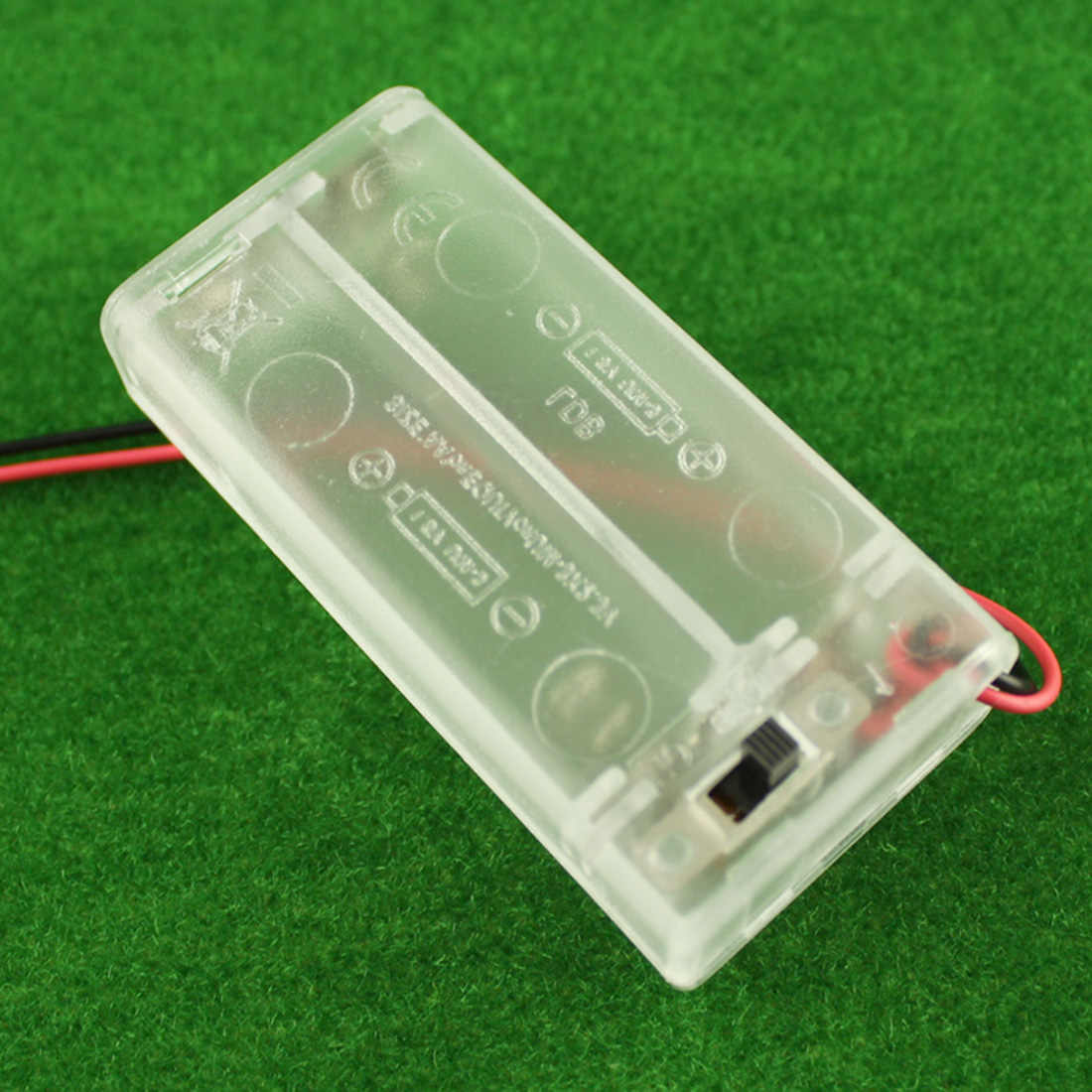 2 AA Battery Holder Box Case With Switch New 2 AA  Batteries Storage Protector Cover Transparent For RC Car DIY Smart Circuit