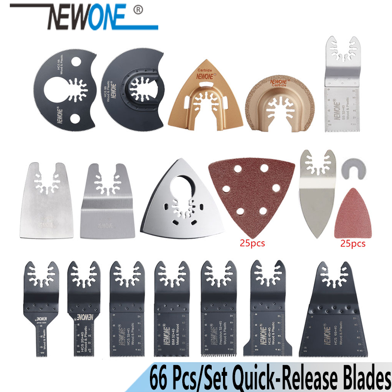 Newone K66 Pcs Oscillating Tool Saw Blades Accessories Fit For Multimaster Power Tools As Fein,Black&Decker Etc,quick Change