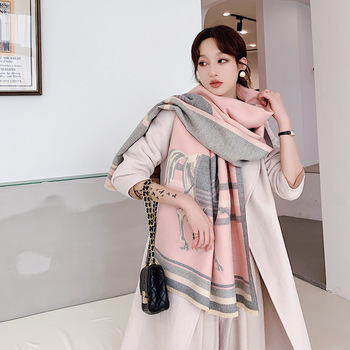 2020 New Women Winter Scarf Cashmere Luxury Brand Shawls Print Lady Pashmina Warm Blanket Wraps
