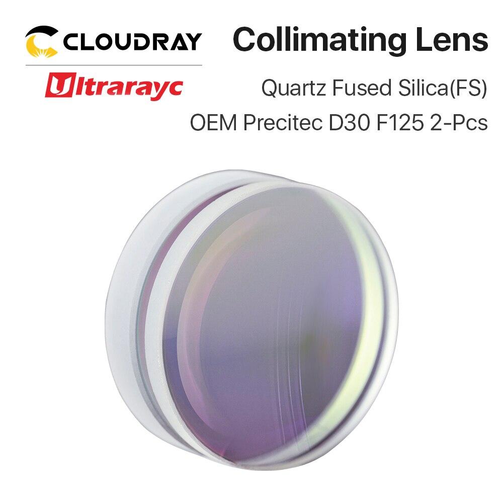 Lentille de mise au point sphérique Ultrarayc D28 D30 F75 F100 F125mm lentille de silice fondue au Quartz Precitec pour Laser à Fiber haute énergie