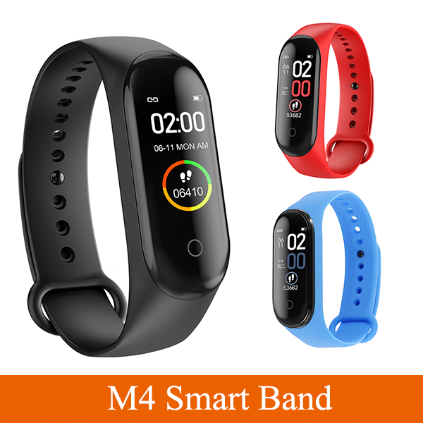 3Colors Fashion M4 Sports Smart Band With Healthy Heart Rate Monitor Running Fitness Smartwatch IP67 Waterproof Smart Bracelet