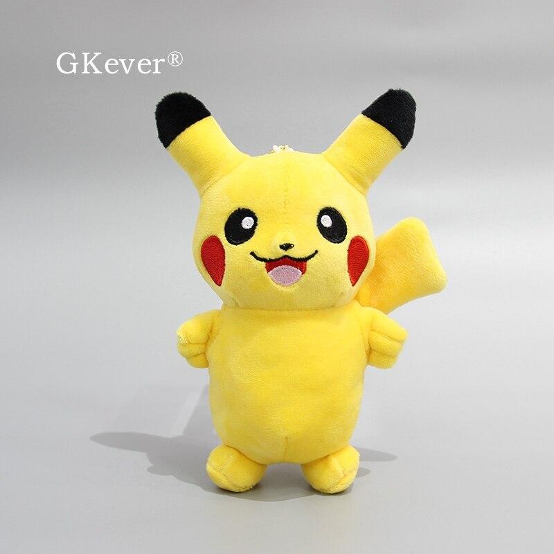 13cm Pikachu Plush Toy Keychain Pendant High Quality Anime Pikachu Plush Doll Toys Gift For Kids Baby Birthday
