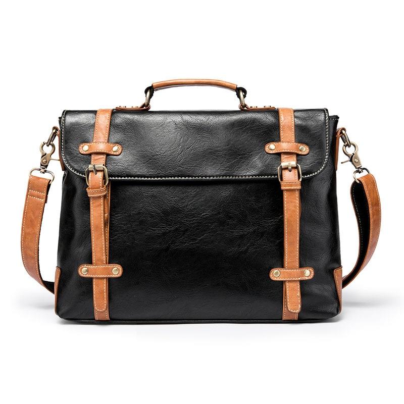 Casual Style Men Business Bag Large Capacity Shoulder Bag Briefcase Bag Top Designer Office Handbag Waterproof  Messenger Bags