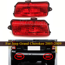 Reflector de parachoques trasero para coche, luces de freno traseras, señal de giro, antiniebla, para Jeep Grand Cherokee 2005 2009 05 06 07 08 09