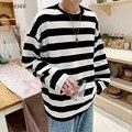 Männer Langarm T-shirts Herbst Neue Ankunft Gestreiften Einfache Herren Tops Tees Männlichen Outwear Alle-spiel Grund Korean Trendy chic Ins BF