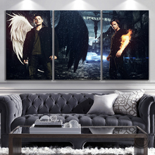 Movie Poster Supernatural 3-Panels Paintings Picture Wall-Decor Abstract Art Dean Sam