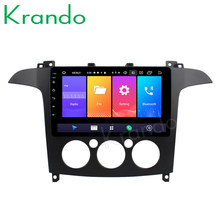 "Krando 2 + 32G Android 9.0 10,1 ""IPS Full touch auto radio Multmedia system für Ford S-Max audio-player gps navigation Kein 2din DVD(China)"