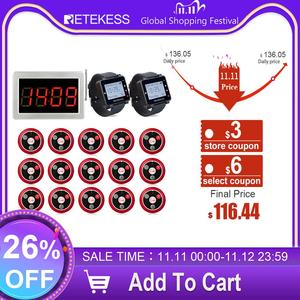 Image 1 - Retekess Restaurant Pager 15 T117 Call Transmitter Buttons+2 Watch Receiver+Receiver Host Wireless Calling System Bar Cafe Pager