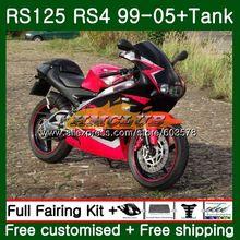 RS125R для Aprilia RS 125 RS125 99 01 02 03 04 05 44CL. 50 red RS4 RS-125 RSV125 R 1999 2000 2001 2002 2003 2005 обтекатель