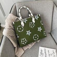 Louis Brand Large Monogram Bag Leather Designer Flowers Printed Handbag High Qua