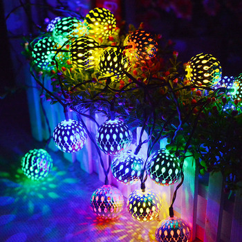 Moroccan Lamp led Lights Decoration Holiday Lighting Christmas Tree Party Wedding Garden Halloween Indoor Stars String Light image
