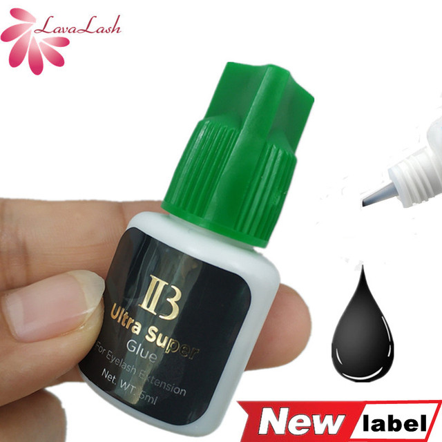 I beauty 1 botella/lote IB Ultra super pegamento Individual de secado rápido, pegamento de extensiones de pestañas, tapa verde, 5ml/botella, Envío Gratis