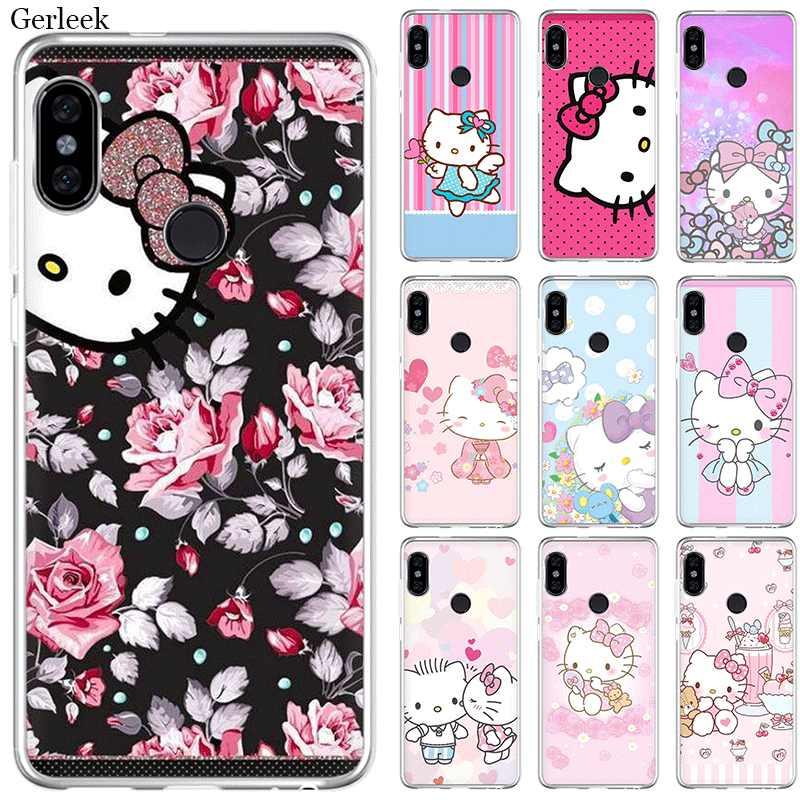 Mobile étui de téléphone pour xiaomi Redmi Note 4 4X3 5 6 7 Pro 5A Couverture Rigide Vilain Hello Kitty