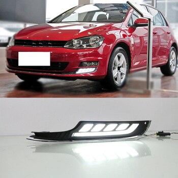 Waterproof Daytime Running Lights Fog Lamp Car Styling Led Day Light DRL For Volkswagen Golf 7 2013 2014 2015 2016
