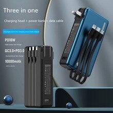 Power-Bank External-Battery-Charger iPhone Xiaomi 10000mah Portable PD for Huawei PD18W