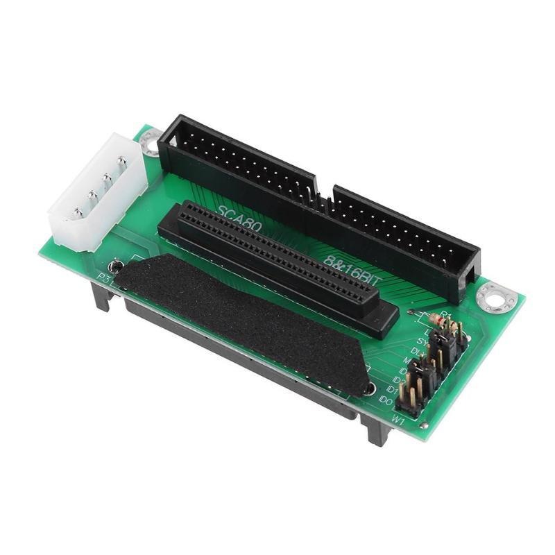 68 SCSI SCA 80Pin כדי 68Pin כדי 50Pin IDE Hard Disk מתאם ממיר לוח כרטיס 68 IDE 50 לוח מודול דיסק קשיח מתאם ממיר (4)