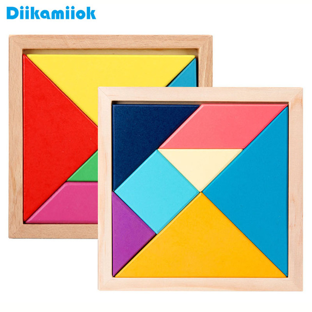 10/ 12/ 14CM Wooden Jigsaw Board Kids Puzzle Baby Early Educational Learning Toys for Children Geometric Shape Color Puzzles Toy
