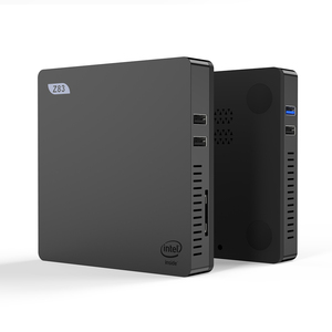 Z83 Mini PC Windows 10 Intel Atom Z8350 Quad Core 4 GB/64 GB HDMI VGA double WiFi 1000M LAN bureau win10 sous licence Mini ordinateur(China)