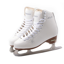 New Kids Children Professional Thermal Warm Thicken Figure Skating Ice Skates Shoes With Ice Blade PVC Waterproof White недорого
