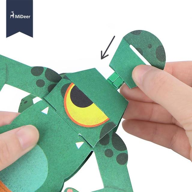 Paper 3D Origami Craft Kit Elf Animal Frog 8 Character Patterns Kids Early Learning Educational Toys For Children Kindergarten 5