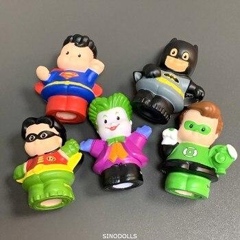 New 5Pcs Fisher Little 2inch mini people DC figure Superman Batman Joker Wonder Woman Doll Toys child kids gift набор фигурок dc comics batman wonder woman superman 3 в 1 17 см
