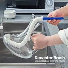 Decanter Flexible Soft Cleaning Brush Wand Foam Sponge Wine Bottle Glass Coffee Cup Hand Washing Cleaning Brush Scrubber Cleaner стоимость